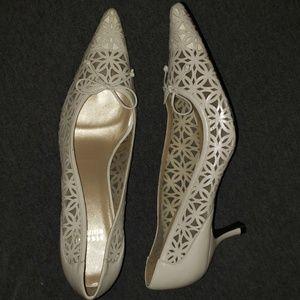 Classic Stuart Weitzman Lace Heels